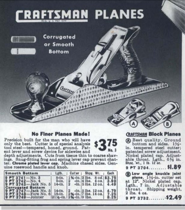 The 3732 block plane also appeared in the 1942 catalog.