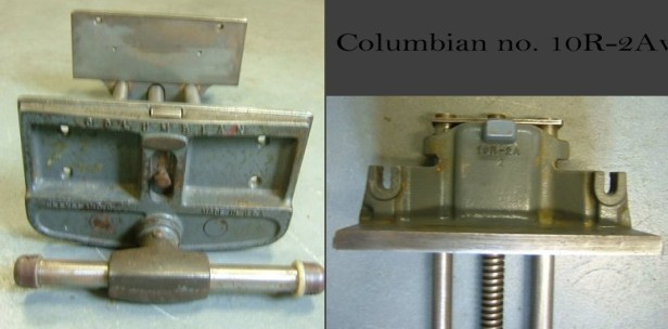 For comparison, look at these ebay images of a Columbian 10R-2A vise.