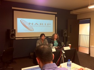 PJ Bloom and Tess Taylor at NARIP