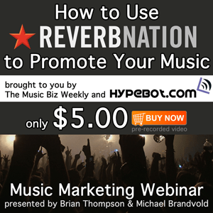 How to use ReverbNation to promote your music.