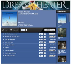 Dream Theater iTunes Store