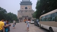 In front of the Bell Tower in Beijing
