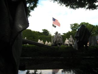 The Korean War Memorial in Washington, DC.