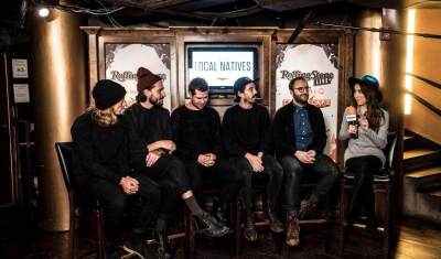 Michelle interviews Local Natives before their performance at 'Rolling Stone Live' at Sundance
