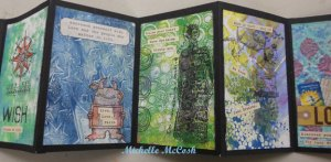 Gelli Arts Gelli Print accordion Book