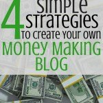 Four Simple Strategies to Create Your Own Money Making Blog