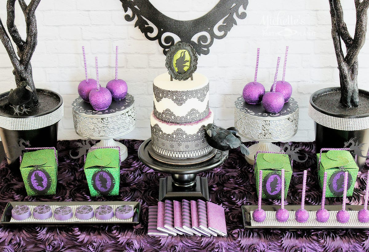 Maleficent Party Ideas | Dessert Table