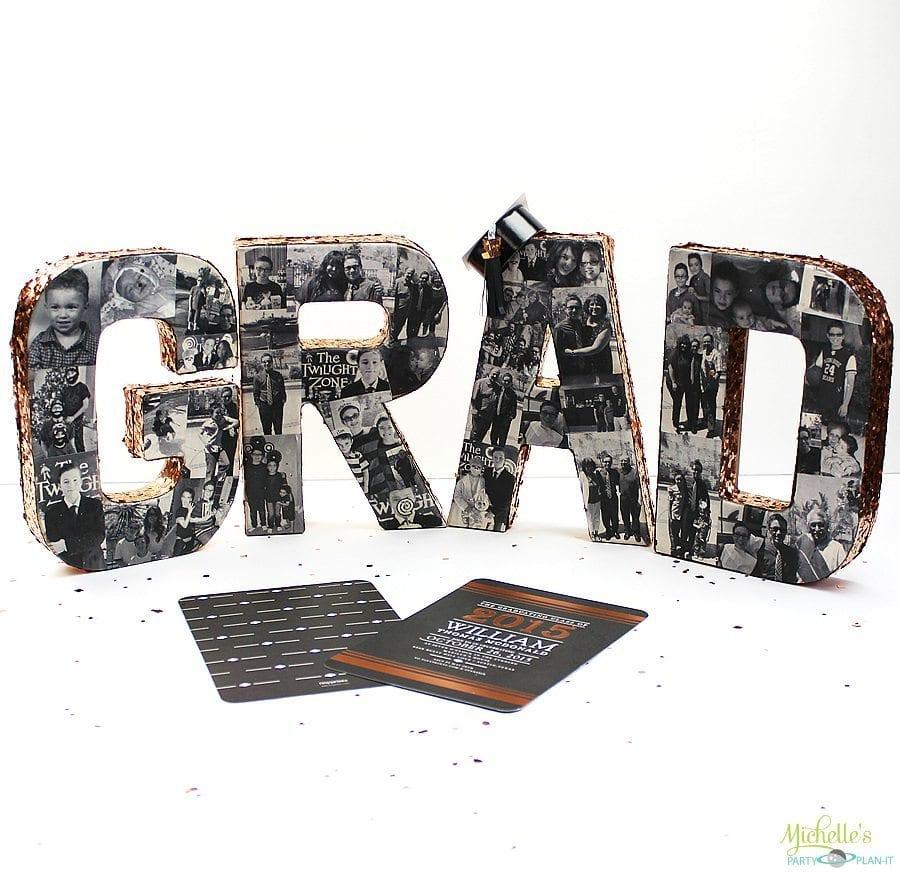 DIY Photo Collage Tutorial | Graduation Party Ideas