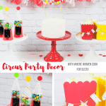 Easy Circus Party Decor with Where Women Cook Sizzix Dies
