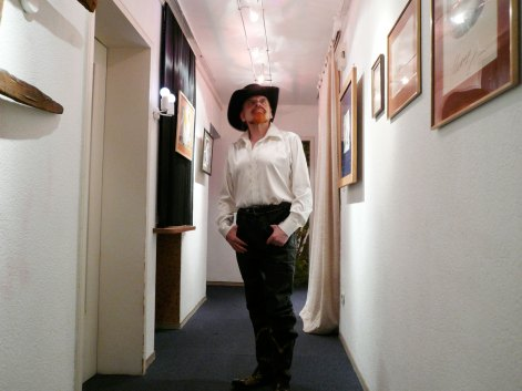 Michel Montecrossa at his New Art Exhibition in the Filmaur Multimedia House, Germany