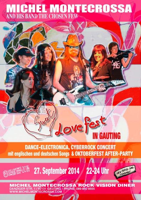 Concert Poster: Michel Montecrossa's Sweet Lovefest Concert