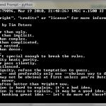 "Zen of Python : easteregg apparaissant pour ""import this"""