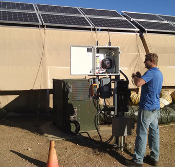 From University of Dayton Research Institute: Researcher installes power/energy metering system at Air Force Forward Operating Base of the Future.