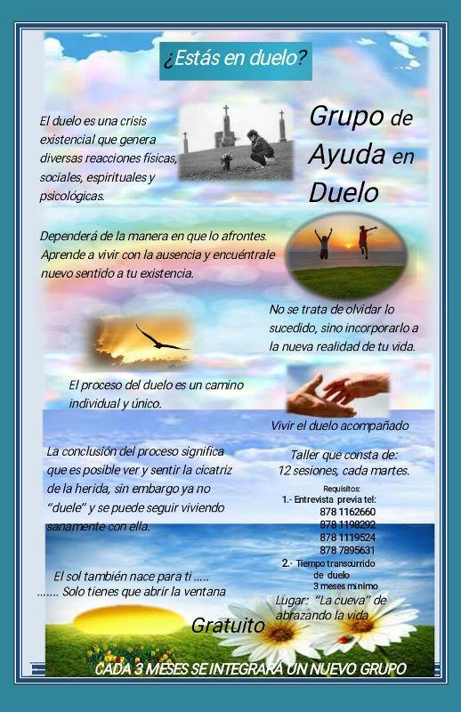 PASTORAL DE LA SALUD DIMENSIÓN DUELO INVITA A SUS PRÓXIMOS TALLERES