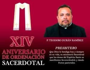 XIV ANIVERSARIO SACERDOTAL DE TEODORO DURÁN
