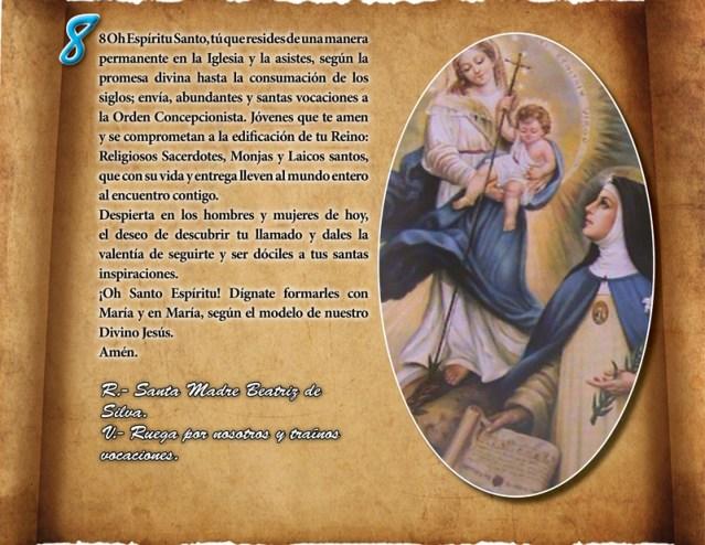 ORACIÓN VOCACIONAL CONCEPCIONISTA DÍA 08