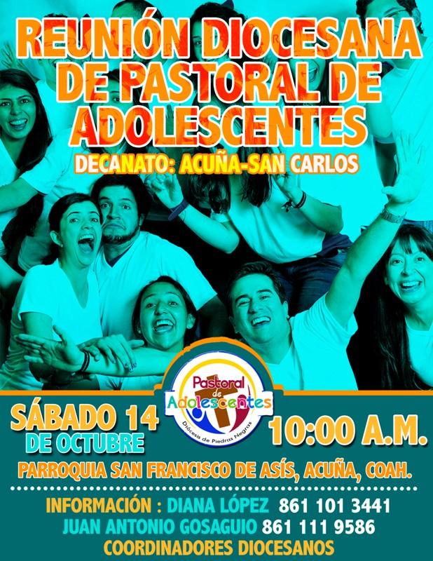 REUNIÓN DIOCESANA DE PASTORAL DE ADOLESCENTES DECANATO ACUÑA-SAN CARLOS