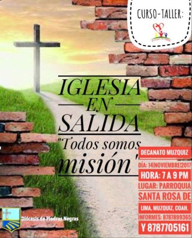 """PASTORAL MISIONERA INVITA AL TALLER IGLESIA EN SALIDA """"TODOS SOMOS MISIÓN"""" EN MÚZQUIZ"""