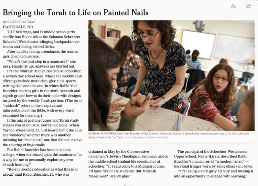 New York Times Nailart