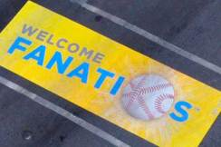 Photo of welcome banner for All Star Game fans
