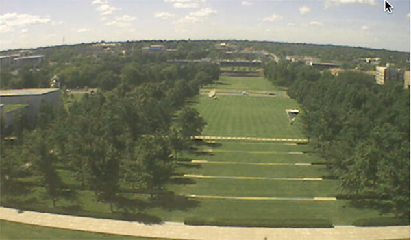 This was a live view of the front lawn of the Nelson this morning from the museum's live camera. On Sunday, this lawn will be full of people as the Nelson hopes what organizers hope will be the biggest picnic the region has ever seen.