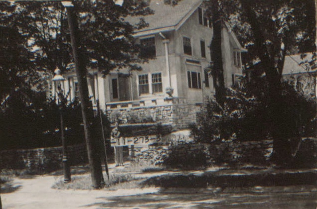 One of the homes from our featured block, 45th to 46th between Holmes and Rockhill, as it looked in 1940.