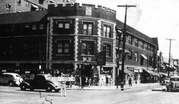 Drugstore at the corner of southeast Troost and Armour.