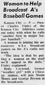 A Sept. 16, 1964 Maryville Daily Forum article.