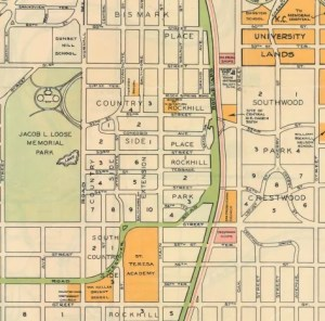 Country Club District map circa 1903. Courtesy Kansas City Public Library - Missouri Valley Special Collections.