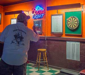 The bars are still part of a dart league.