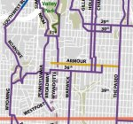 A section of the Kansas City bike map.