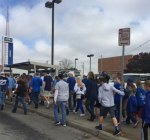 Courtesy MainCor. Although the parade and rally were downtown and at Union Station, Midtown saw a steady stream of Royals fans on their way to the party today.