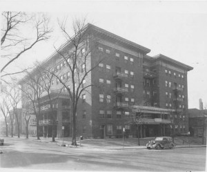 A 1940 photo of the building, looking much the same. It was then known as the Lucerne Hotel.