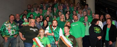It takes many volunteers to pull off a successful parade. , such as these members of the 2015 Kansas City St. Patrick's Day committee. Courtesy KCIrishParade.com.