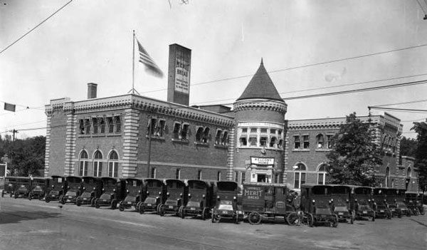 The Wonder Bread Building at 30th and Troost, built in 1914 as the Campbell Baking Company, has been in the news because of a redevelopment plan for the site. Seen here in 1923, the company baked and delivered bread to many people in Midtown Kansas City.