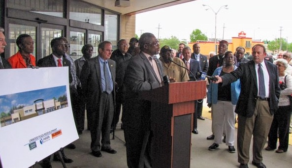 File photo. Officials announced plans for the Linwood Shopping Center last year.