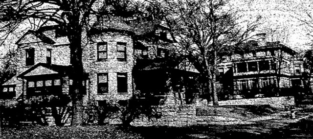 This 1955 newspaper photo shows the Conservatory of Music annex at 3522 Walnut, with the Conservatory (the Charles Armour home) in the background.