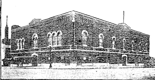 For many years, the El Torreon Ballroom at Thirty-first and Gillham Plaza was a center of entertainment for Kansas City. This 1928 newspaper article showed the recently-completed building with storerooms on ground level and the dance hall on the top floor. The ballroom was a popular place for dancing to orchestras, beauty pageants, and later boxing matches.