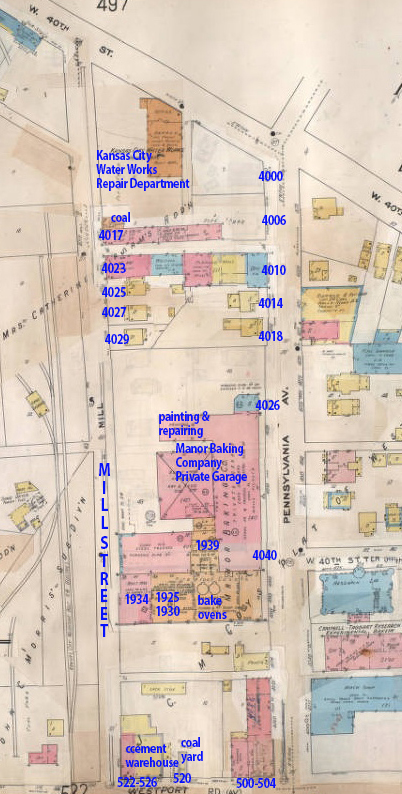 An early 20th century map of the block.