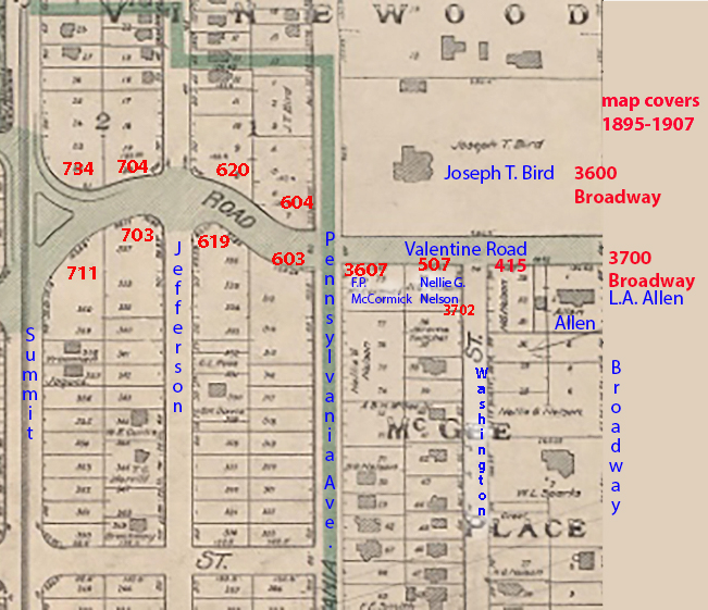 This Platte Map Of The Roanoke District Shows Valentine Road Between 1895  And 1907. Note That Only The Two Large Homes At Broadway Had Been Built By  The End ...