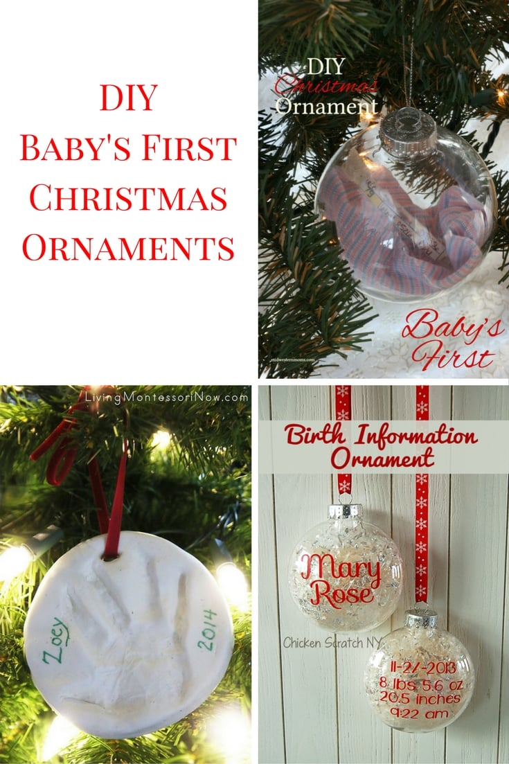 Masterly Diy Ornaments Diy Ornaments Baby S Ornament Diy Lenox Baby S Ornaments baby Babys First Christmas Ornament