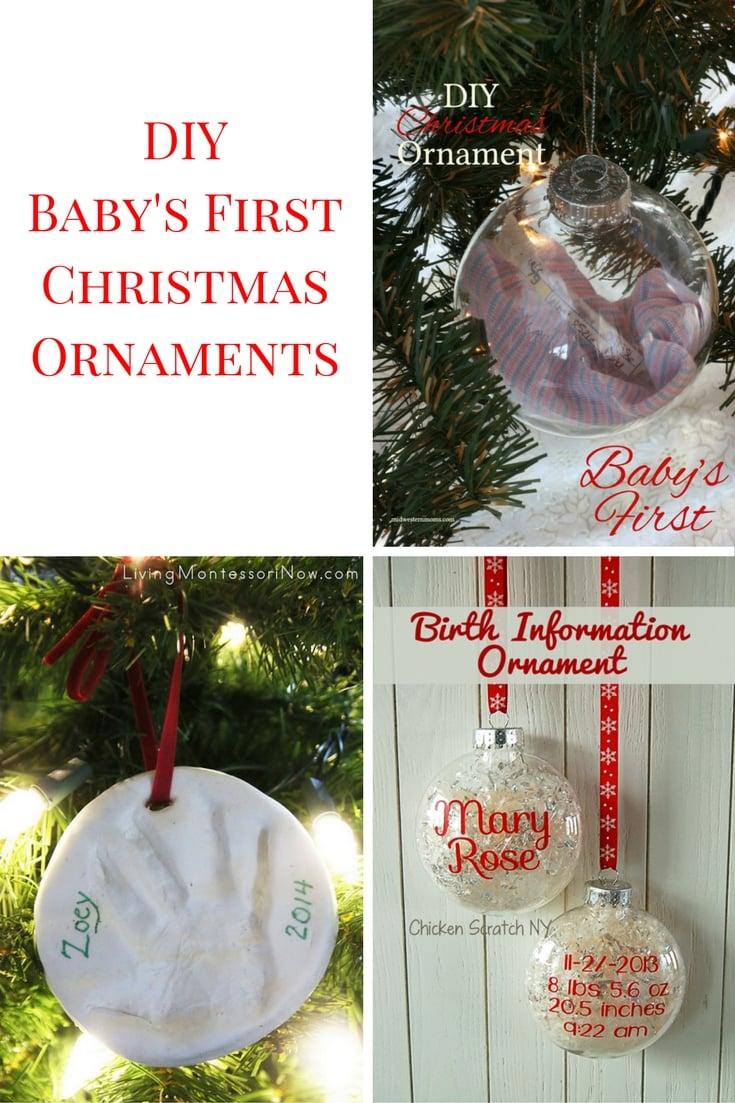 Masterly Diy Ornaments Diy Ornaments Baby S Ornament Diy Lenox Baby S Ornaments baby Babys First Christmas Ornament