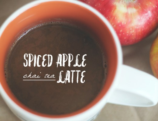 spiced apple chai tea latte