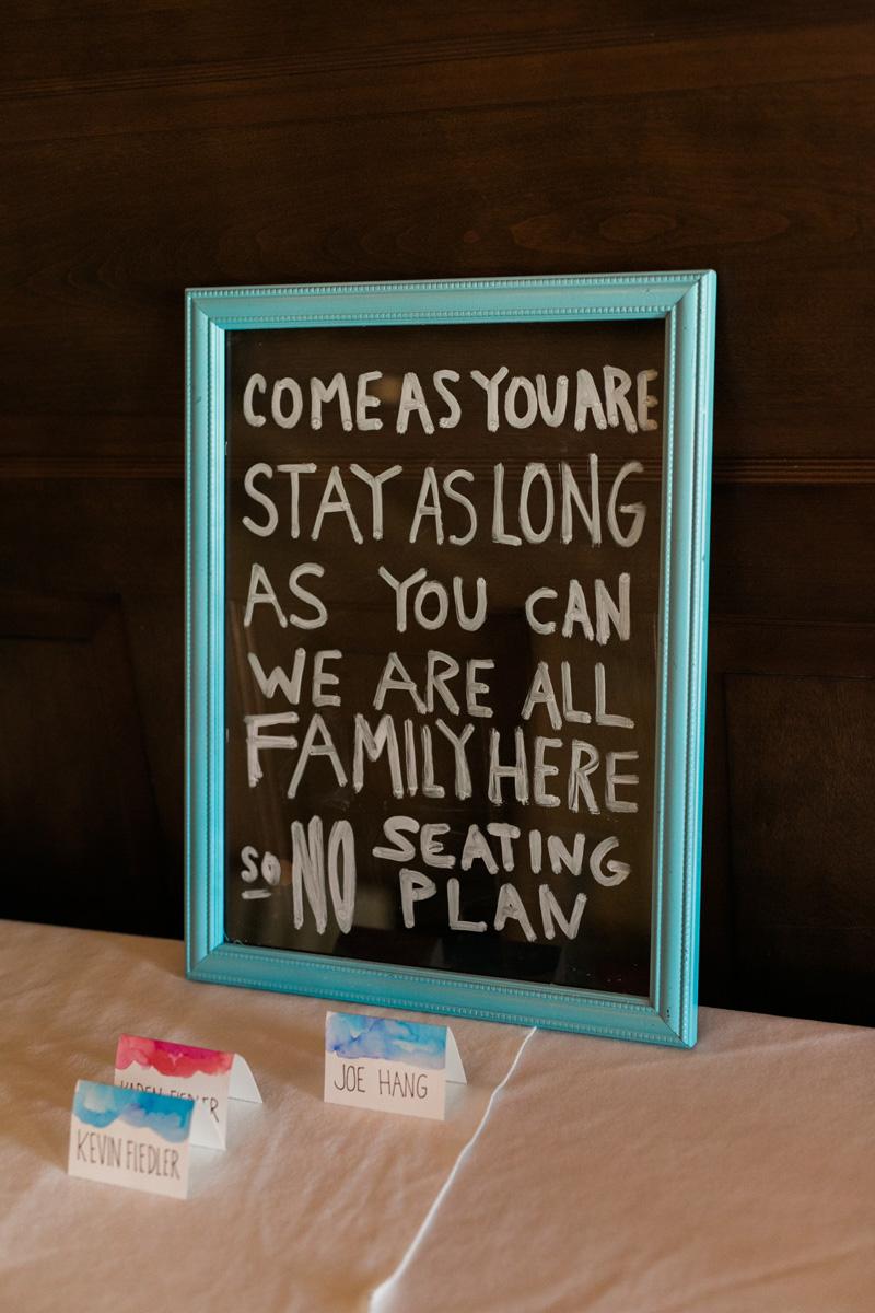 DIY wedding reception photo frame
