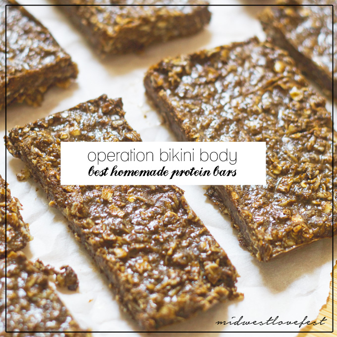 bikini body tips: homemade protein bars