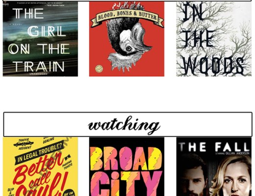 what I'm reading & watching this month | midwestlovefest