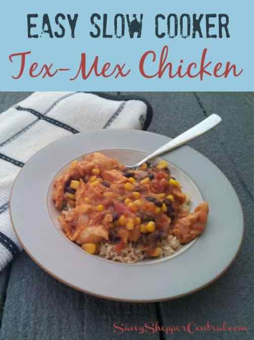 Slow Cooker Chicken Tex Mex Style