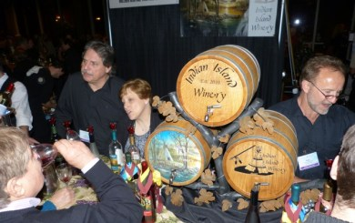Dave Reedstrom, Meleah Huxford and Russ Winter of Indian Island Winery.