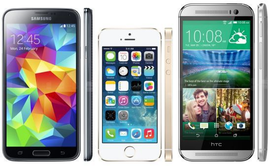 sgs5-vs-iphone-5s-vs-htc-one-m8