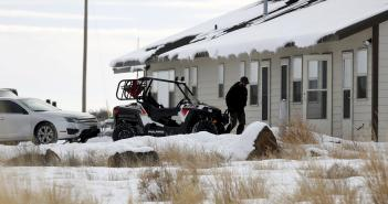 "An occupier walks to a housing unit at the Malheur National Wildlife Refuge near Burns, Oregon, January 4, 2016. The leaders of a group of self-styled militiamen who took over a U.S. wildlife refuge headquarters over the weekend said on Monday they had acted to protest the federal government's role in governing wild lands. Ammon Bundy, a leader of the group, told reporters outside the occupied facility on Monday that his group had named itself ""Citizens for Constitutional Freedom"" and was trying to restore individual rights. Bundy and law enforcement officials declined to say how many people were occupying the refuge headquarters. REUTERS/Jim Urquhart"